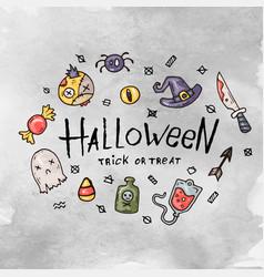 cartoon halloween card vector image vector image