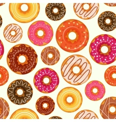 Donut seamless pattern vector image vector image