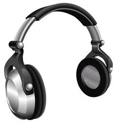 large dj headphones vector image vector image