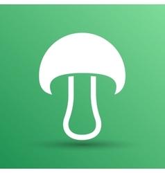 Mushroom sign icon Boletus mushroom symbol vector image