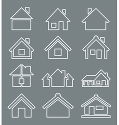 Outline house icon vector image vector image