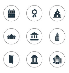 Set of 9 simple construction icons can be found vector