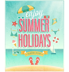 summer holydays vector image vector image