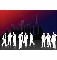 white men silhouettes vector image