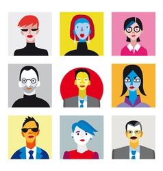 Avatar businessmen businesswomen set vector image vector image