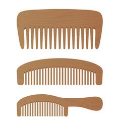 comb barber comb hair accessories wooden comb vector image