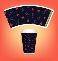 disposable paper cup clean white to go vector image