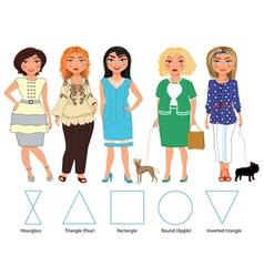 Five Figures everyday wearing vector image