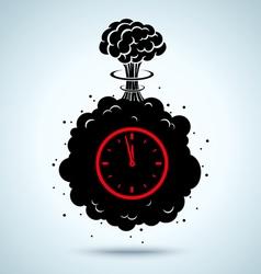 war clock vector image vector image
