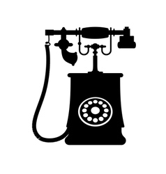a vintage rotary dial telephone vector image vector image