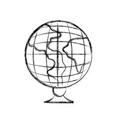 figure global earth planet desk design to study vector image vector image