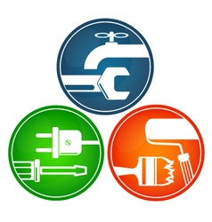 Symbols for home renovation vector image