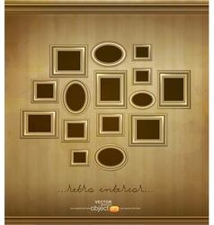 vintage picture frames vector image