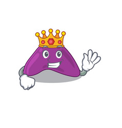 A wise king adrenal mascot design style vector