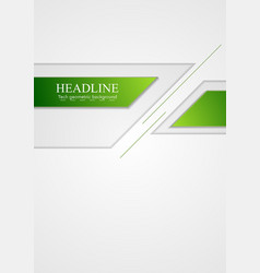 Abstract green grey tech corporate background vector