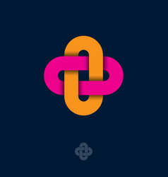 abstract icon flat logo for business industry vector image