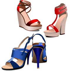al 0801 shoes vector image