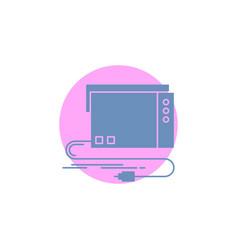 Audio card external interface sound glyph icon vector