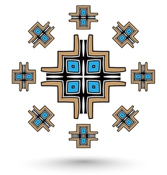 Aztec cross mandala vector