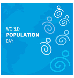 Banner or poster of world population day blue vector