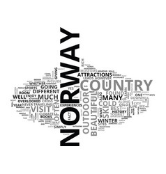 beautiful sites gentle people in norway text word vector image