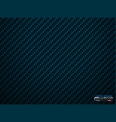 blue carbon fiber volume background vector image