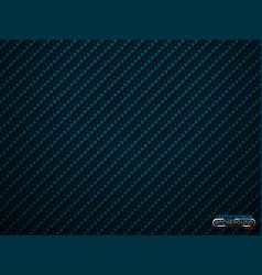 Blue carbon fiber volume background vector