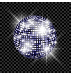 Blue Disco Ball isolated on a transparent vector image