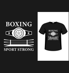boxing sport strong vector image
