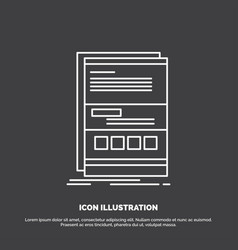 browser dynamic internet page responsive icon vector image