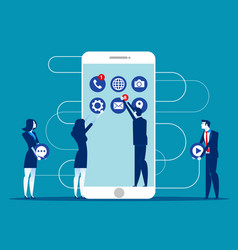 business people decorated mobile concept business vector image
