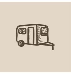 Caravan sketch icon vector