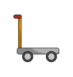 Cart delivery isolated icon vector