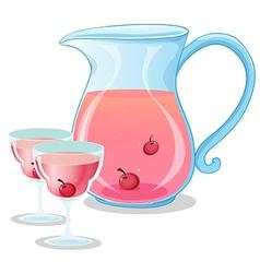 Cherry juice vector