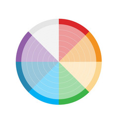 circle color infographic vector image