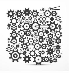 Cogs - gears cog - gear symbol vector