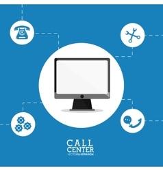 Computer tools call center design vector