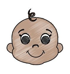 Cute baby icon vector