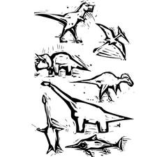 Dinosaur spot images vector