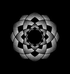 dots white circle mandala vector image
