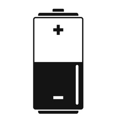 Eco battery icon simple style vector