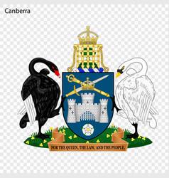 Emblem of canberra vector