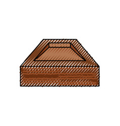 Empty wooden box vector
