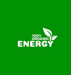 energy green organic leaf a tree icon on a vector image