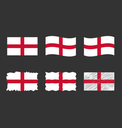 england flag set official vector image