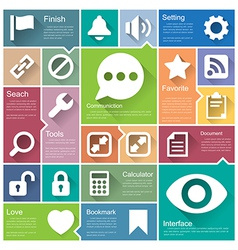 Flat design interface icon set 5 vector image