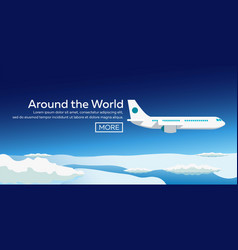flat web banners on the theme of travel by vector image