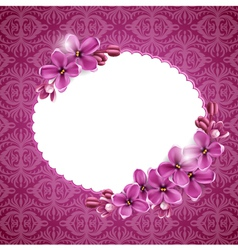 Floral background in pink vector
