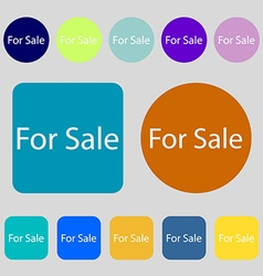 For sale sign icon Real estate selling 12 colored vector image
