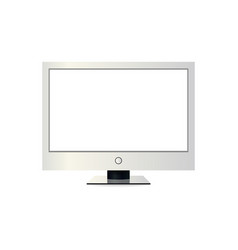 frame of tv empty led monitor of computer or vector image